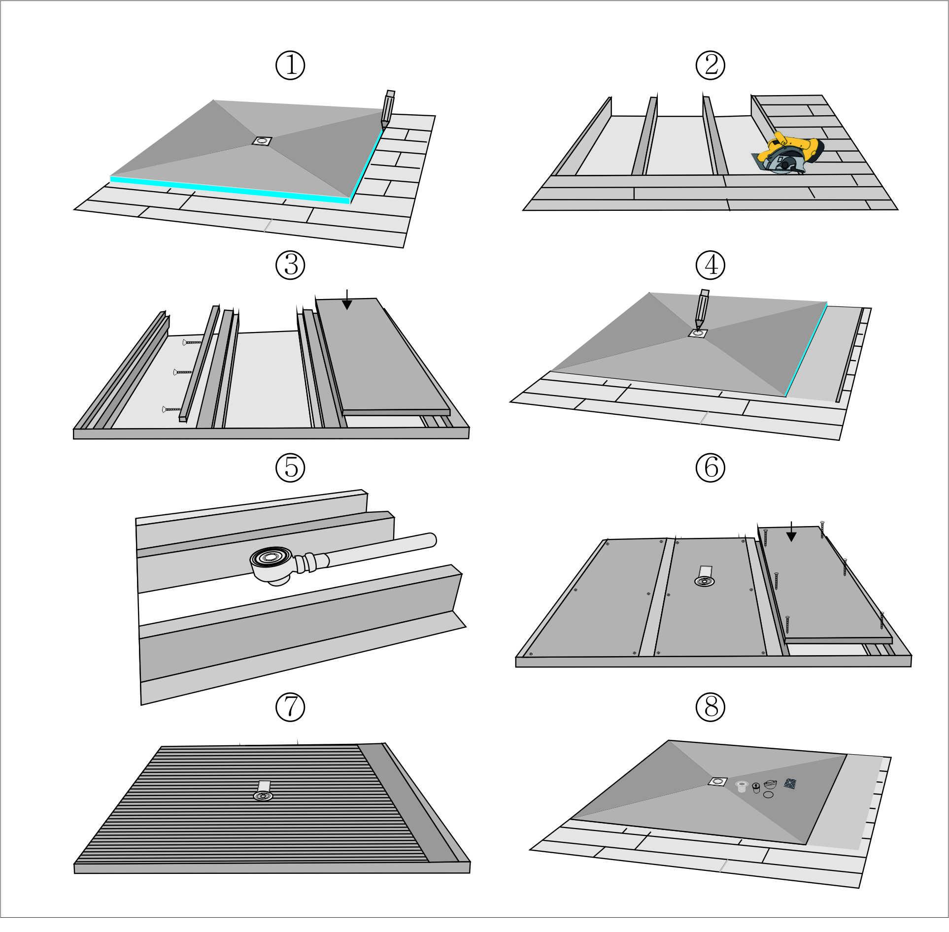 xps tile backer board,shower tray,shower base,shower niche