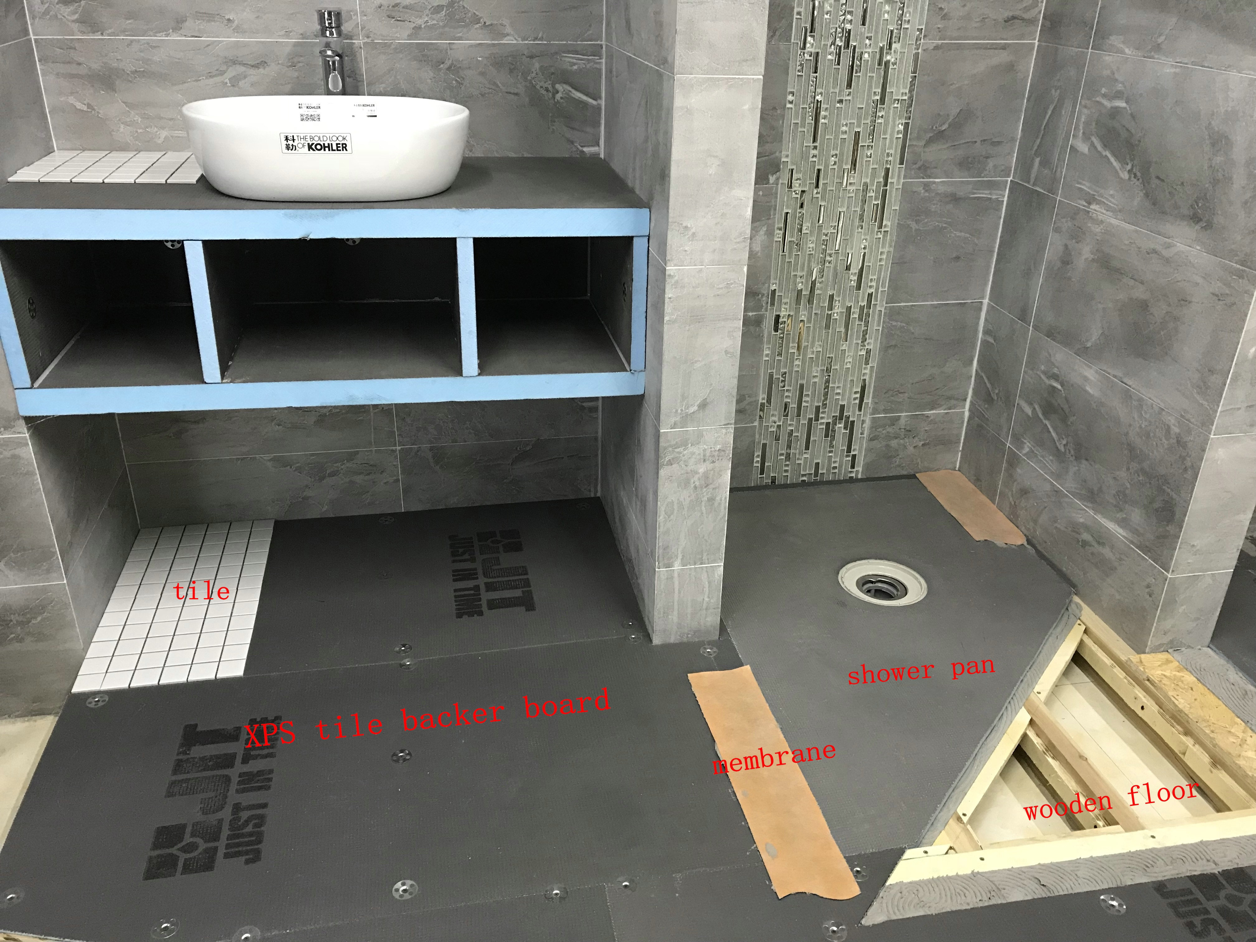 Shower tile backer board tile designs thermal construction boards xps tile backer board dailygadgetfo Image collections